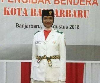 Aida Resmi Dikukuhan Sebagai Anggota Paskibraka Kota Banjarbaru Tahun 2018